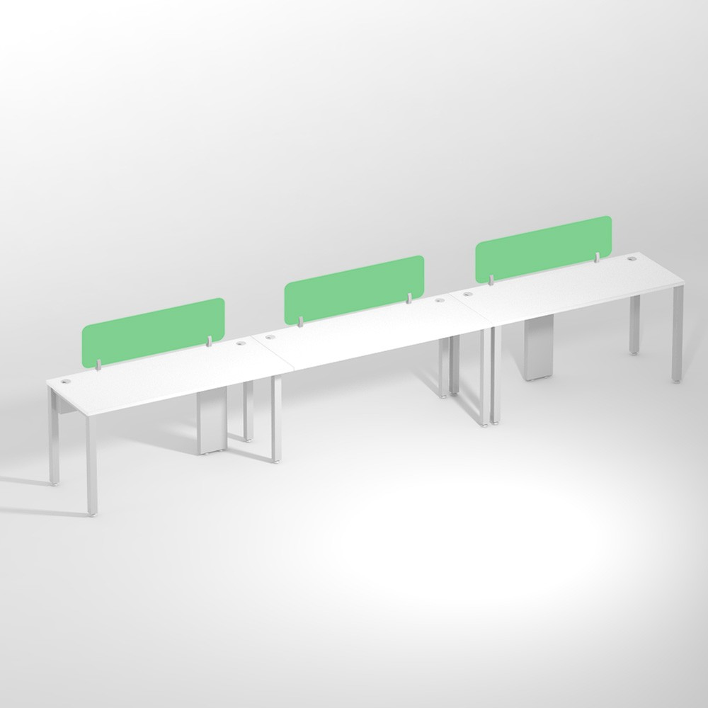 Show Details For Linear Three Seater NSharing -1500mm Office Edge Workstation