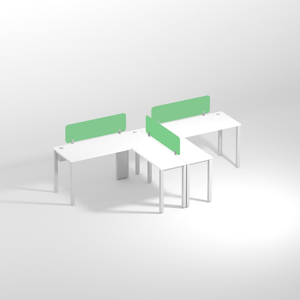 Show Details For L-Shaped Two Seater- Center Office Edge Workstation