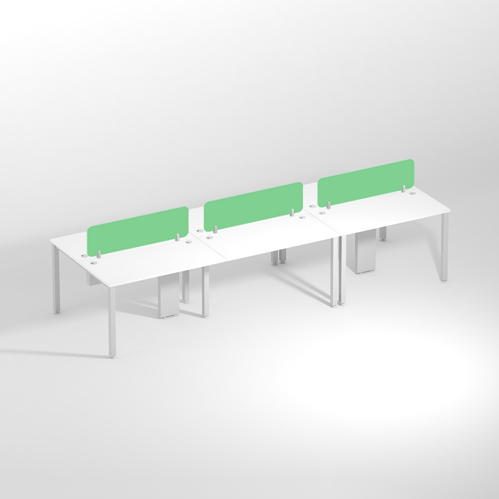 Show Details For Linear Six Seater Sharing -1200mm Office Edge Workstation