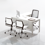 Show Details For Edge Executive Table with Pedestal Office Cabin