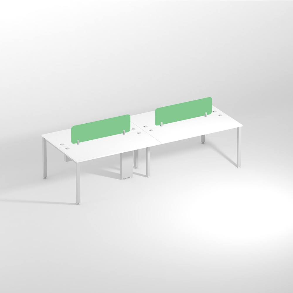 Show Details For Linear Four Seater Sharing 1200mm Office Edge Workstation
