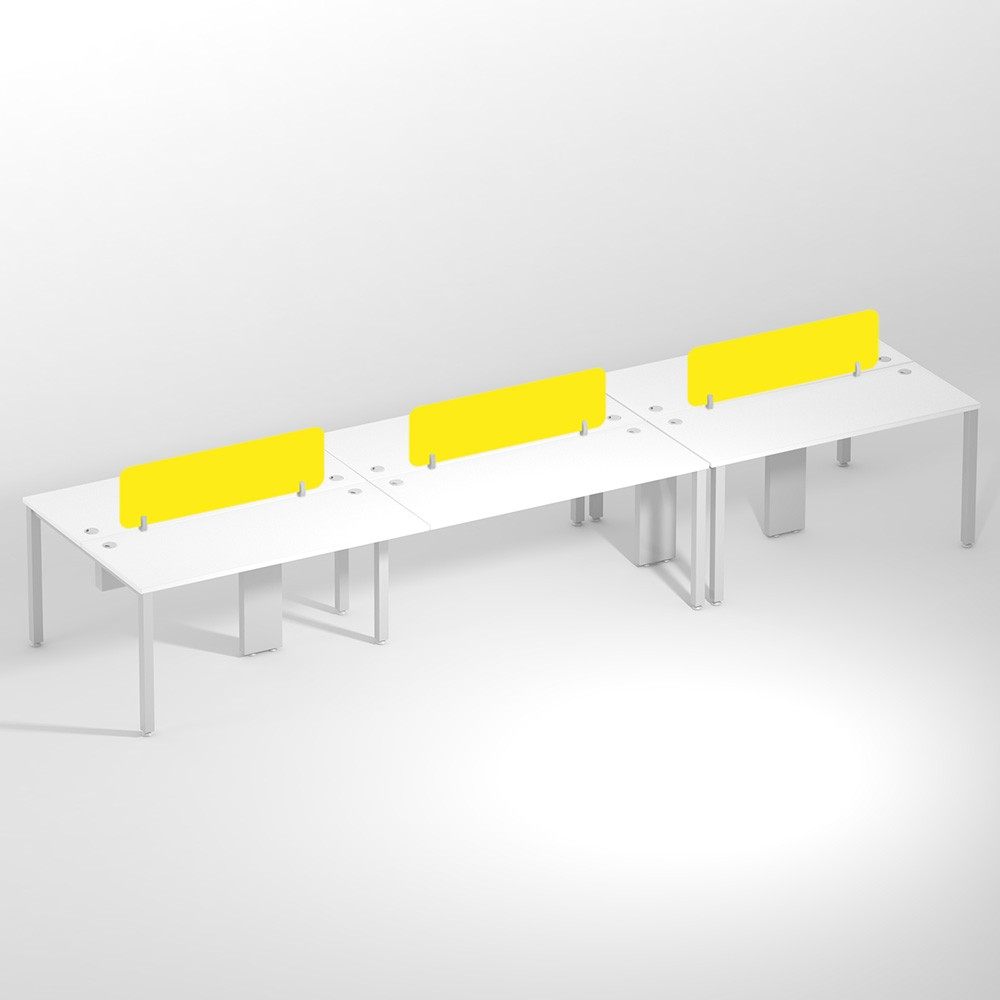 Show Details For Linear Six Seater Sharing -1500mm Office Edge Workstation