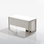 Show Details For Edge Main Table with Pedestal Office Cabin