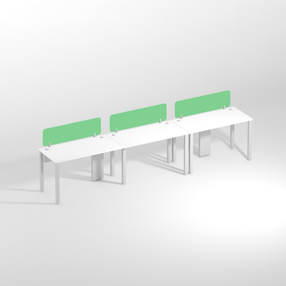 Show Details For Linear Three Seater NSharing- 1200mm Office Edge Workstation